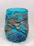 Design único Multicolor Murano Glass Vase para Table Display