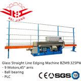 9 Machine van het Glas van de motor de Scherpende Oppoetsende met PLC Controle (Bzm9.325pw)