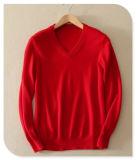 Chandail 100% de tricotage V de chandail de cachemire de Knittwear de 2017 hommes de cachemire pur Long-Sleeved de collet du pull