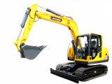 Máquina del excavador de la correa eslabonada del compartimiento del amarillo 0.2-0.5m3 de la maquinaria de construcción pequeña