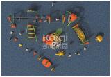 El juego al aire libre del sistema de Kaiqi que subía combinó con Playsets (KQ60133A)