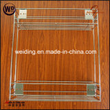 Zwei Schichten Draht chromierte Küche-ziehen Korb Wt-B02 aus