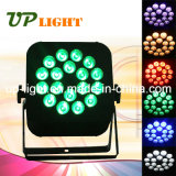 18PCS 18W Uvargbw 6in1 Flat LED PAR Licht van de Disco