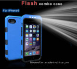 iPhone 5 iPhone 6 Luminous Phone Cover Case를 위한 새로운 Luxury Cell Phone Case LED Selfie Light Phone Case
