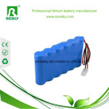 Paquete recargable de la batería de litio 18650 22.2V para las herramientas sin cuerda