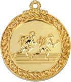Or Electroplating 5cm Badminton Plaque