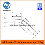 Les garnitures d'acier inoxydable choisissent le compactage ajustage de précision de presse de coude de 45 degrés