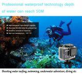 Ação cheia subaquática da câmera larga 1080 HD do esporte do ângulo com a câmera impermeável da função de WiFi