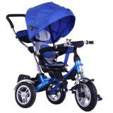Triciclo/4 del marco del metal de los niños en 1 bebé Trike con el pabellón (OKM-1183)