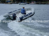 Aqualand 14feet 4.2m Rib Motor BoatかRigid Inflatable Rescue Boat (rib420A)