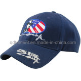 100% Algodão Felt Applique Custom Baseball Leisure Cap (TMB6231)