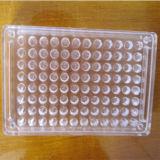 Placa transparente Non-Disposable da reação do furo do vidro orgânico 96 do laboratório