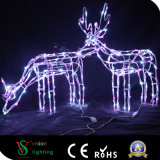 Luz decorativa dos cervos 3D do Natal