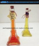 Bottiglia di vetro del decantatore di Liquior del vino della Torre Eiffel raccoglibile dell'annata
