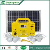150W Beleuchtungssystem der Solarbatterie-LED mit Ändern-Sinus-Wellenartig bewegen-Inverter