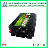 инверторы силы 500W с инвертором DC заряжателя UPS используемым домом (QW-M500UPS)