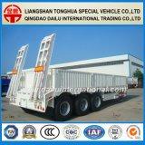 de Semi Aanhangwagen van de Vrachtwagen 80tons Lowbed/Lowboy met de Ladders van de Lente