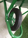 De groene Kruiwagen Wb6400 van het Wiel van de Kleur