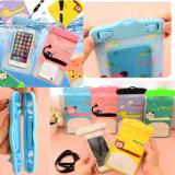 かわいい漫画袋PVC防水水泳の携帯電話袋