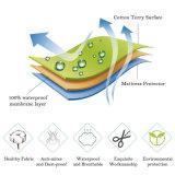 протектор тюфяка гостиницы ткани Терри хлопка 130GSM водоустойчивый