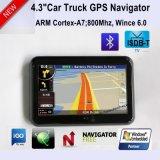 """Système de navigation potable du tableau de bord GPS """" du véhicule 4.3 neuf avec Bluetooth, émetteur FM, TMC, fonction d'ISDB-T TV, Poids du commerce-dans pour l'appareil-photo de stationnement, carte GPS-4313"""