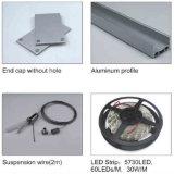 Difusor de aluminio ligero del perfil de la protuberancia del LED