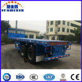 De Jushixin 3 do eixo 40FT do leito do recipiente reboque do caminhão Semi