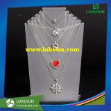 Estante de acrílico vendedor caliente del sostenedor de la exhibición del collar de la joyería de la alta calidad