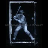 Cubo del béisbol del laser del cristal 3D (ND7005)