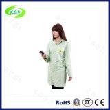 Cappotto di sicurezza del Workwear poli/cotone sopra il cappotto del laboratorio di tecnologia del cappotto ESD