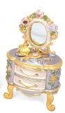 Boîte de bijoux, caisse de bijoux d'alliage, boîte de bijoux de décoration (54-3)