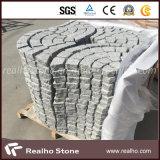 Piedra en abanico del adoquín del granito G603/piedra de pavimentación con el color mezclado G682