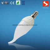 LEDの球根ランプの蝋燭またはTurntipの形のテールE14 3With5W