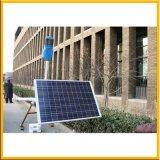 Réverbère avec l'énergie solaire verte