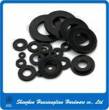 プラスチック締める物のナイロンプラスチック黒く平らな洗濯機(M2-M36)