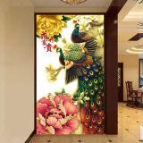 Papéis de parede bonitos autoadesivos das pinturas murais da parede do pavão