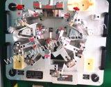 차량 실내 & 외부 이음쇠를 정착물 또는 지그와 검사 계기를 검사하는 차