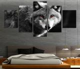 HDは目が赤いオオカミの絵画キャンバスの版画室の装飾プリントポスター映像のキャンバスMc056を印刷した