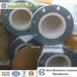 Resistente al desgaste de alúmina tubería revestida de cerámica para la lechada, de eliminación de polvo