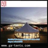 Wedingおよびイベントのためのガラス壁の六角形の塔のテント
