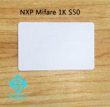 PVC Contactless NXP MIFARE 고전적인 S50 1k 풀그릴 ID 카드