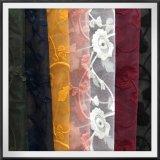 花の刺繍のレースのテュルの刺繍のレースの花によって刺繍されるレース