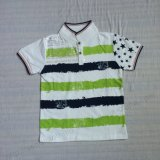 Polo Polo Green Color en vêtements pour enfants Sq-6220