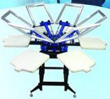 가득 차있는 자동적인 6 색깔 의복 스크린 인쇄 기계