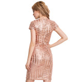 최고 판매 금 v 목 섹시한 형식 숙녀 복장
