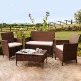 Jardín al aire libre muebles Paito Wicker Sitting Room Cafe Bistro del sofá de la rota