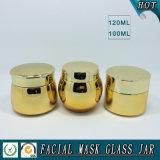 choc crème de produits de beauté en verre de placage à l'or 100ml