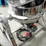 Chauffage au gaz d'acier inoxydable inclinant la bouilloire à cuire revêtue avec l'agitateur