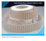 Étiquettes de film adhésif résistant aux hautes températures
