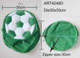 녹색과 백색 축구 의자 덮개 훈장 홈